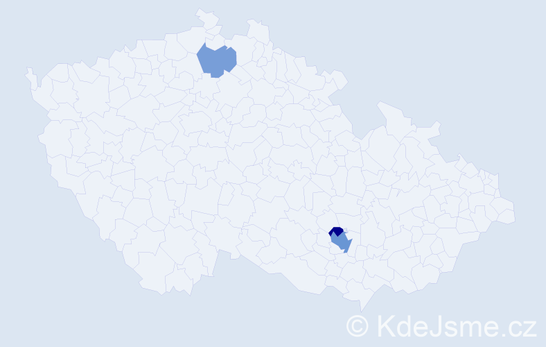 Příjmení: 'Bakó', počet výskytů 6 v celé ČR