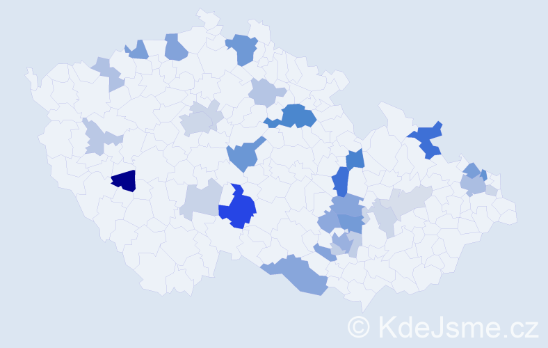 Příjmení: 'Kittner', počet výskytů 83 v celé ČR