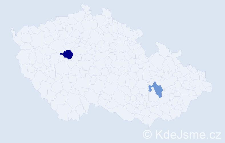 Příjmení: 'Kahlertová', počet výskytů 3 v celé ČR
