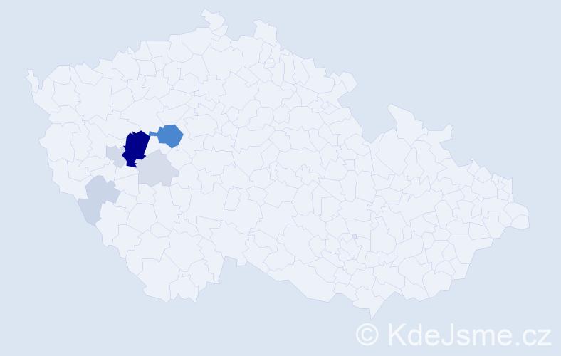 Příjmení: 'Harnoch', počet výskytů 23 v celé ČR