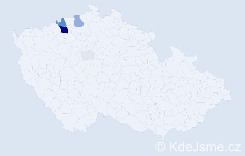 Příjmení: 'Garbarová', počet výskytů 7 v celé ČR