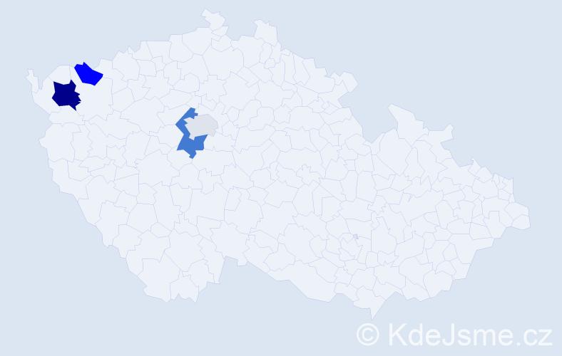 Příjmení: 'Ivaškovič', počet výskytů 7 v celé ČR