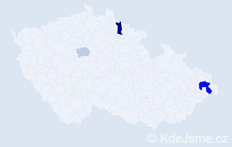 Příjmení: 'Elder', počet výskytů 7 v celé ČR