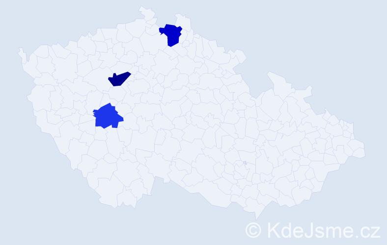 Příjmení: 'Enderšt', počet výskytů 10 v celé ČR