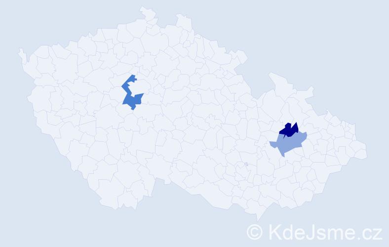 Příjmení: 'Glavatovič', počet výskytů 4 v celé ČR