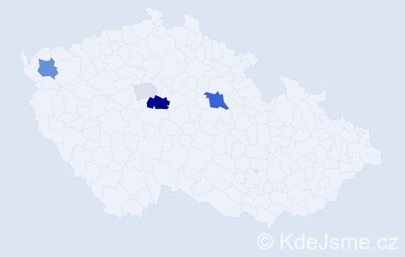 Příjmení: 'Gašník', počet výskytů 6 v celé ČR