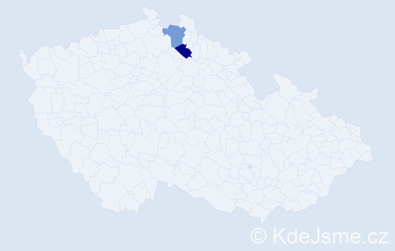 Příjmení: 'Felkner', počet výskytů 6 v celé ČR