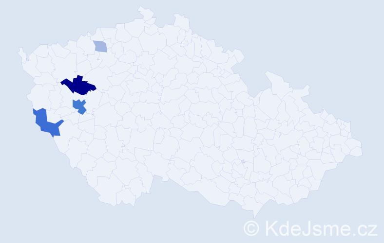 Příjmení: 'Ebrl', počet výskytů 11 v celé ČR