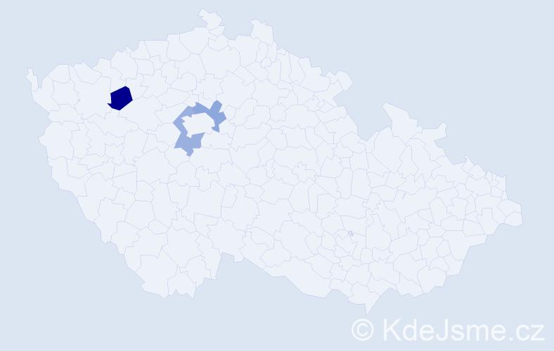 Příjmení: 'Elbogenová', počet výskytů 6 v celé ČR