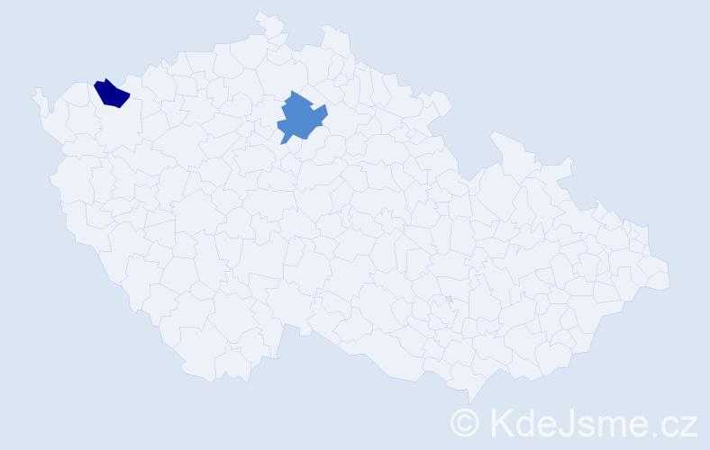 Příjmení: 'Gernátová', počet výskytů 7 v celé ČR