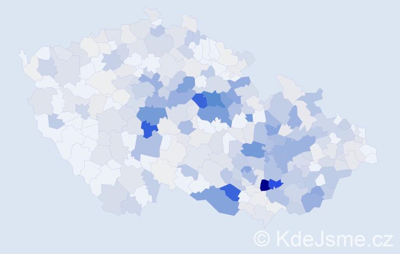 Příjmení: 'Kohoutek', počet výskytů 1469 v celé ČR