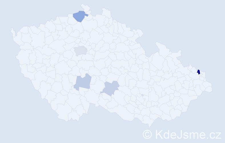 Příjmení: 'Jamáriková', počet výskytů 12 v celé ČR