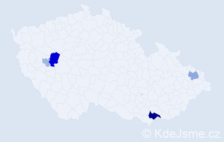 Příjmení: 'Anténová', počet výskytů 8 v celé ČR