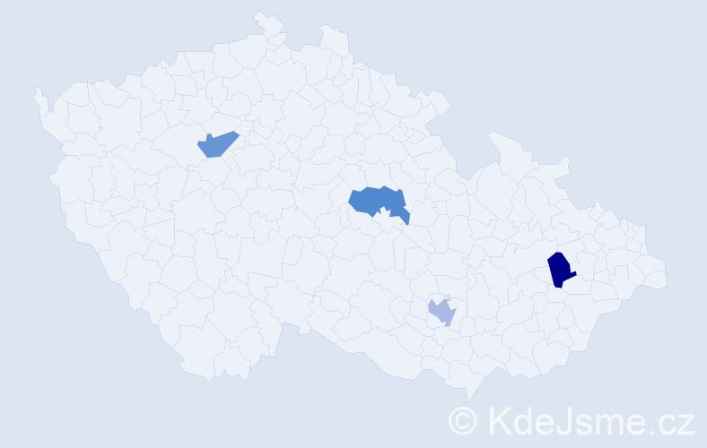 Příjmení: 'Christel', počet výskytů 8 v celé ČR