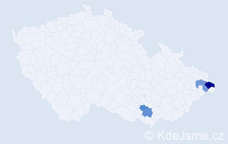 Příjmení: 'Barnovská', počet výskytů 8 v celé ČR