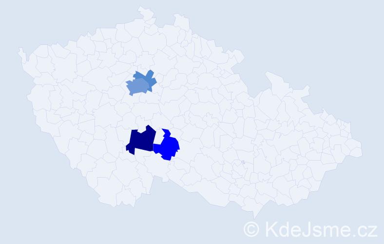 Příjmení: 'Dafčík', počet výskytů 10 v celé ČR