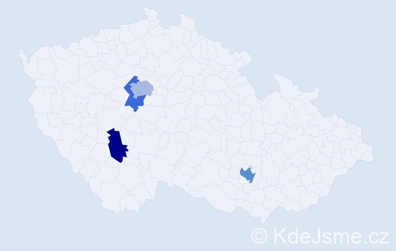Příjmení: 'Ehrenthal', počet výskytů 6 v celé ČR