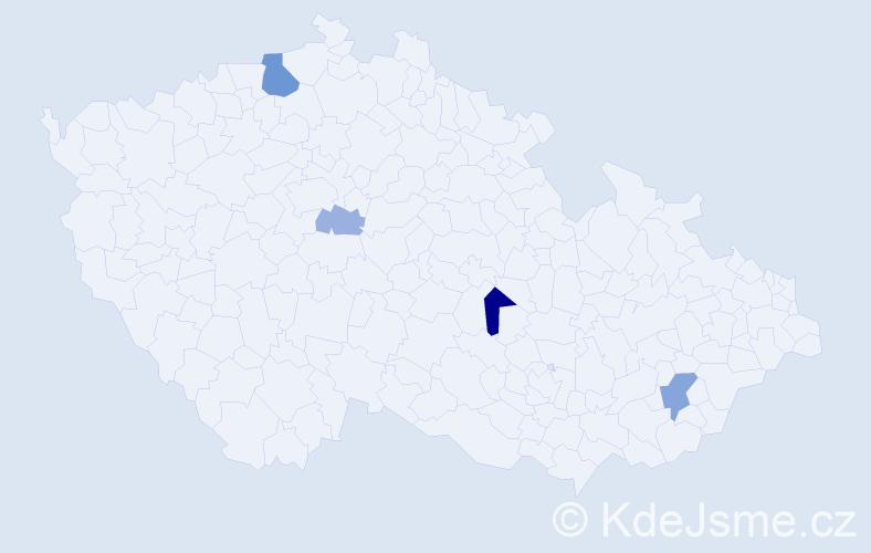 Příjmení: 'Klapálek', počet výskytů 17 v celé ČR