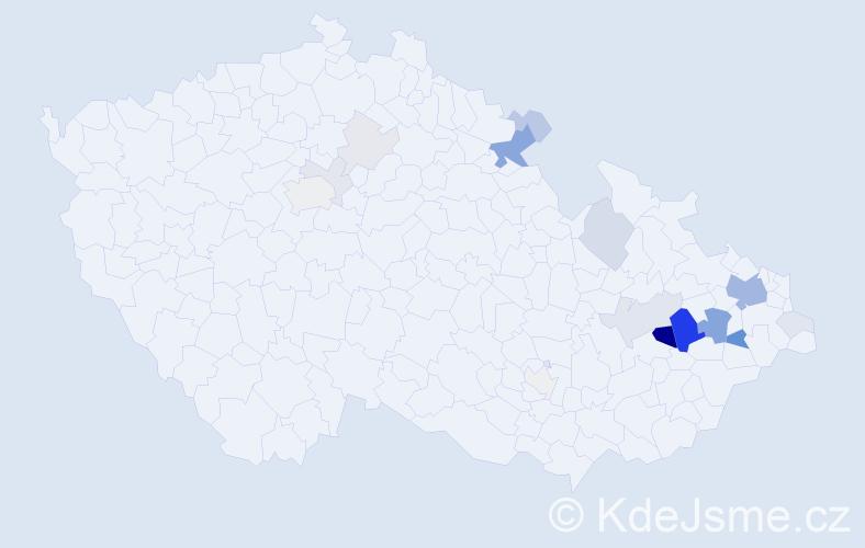 Příjmení: 'Hilscherová', počet výskytů 66 v celé ČR