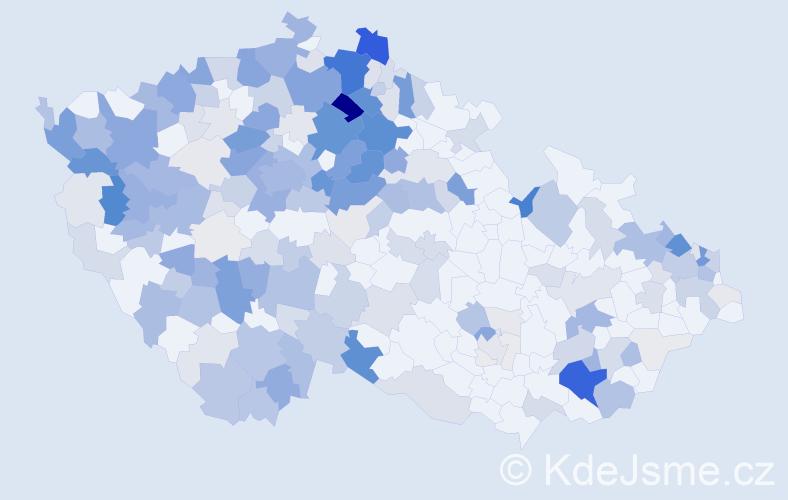 Příjmení: 'Kupec', počet výskytů 841 v celé ČR