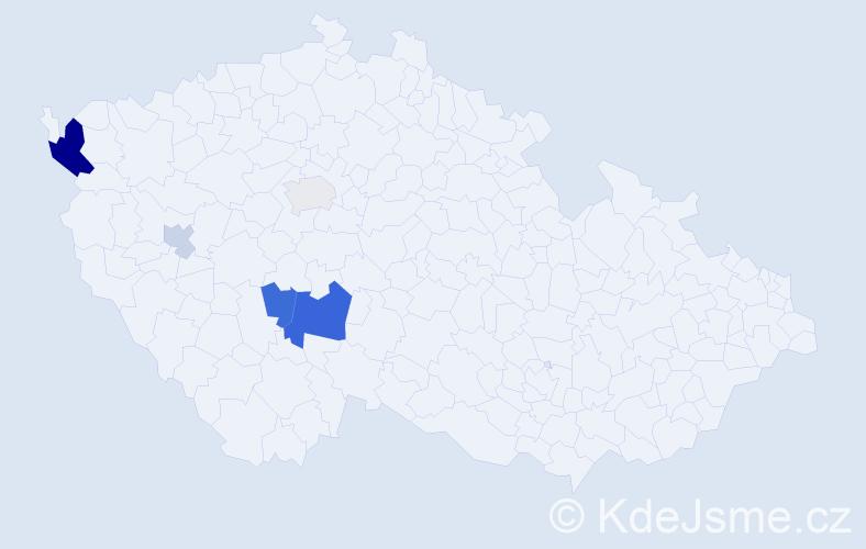 Příjmení: 'Iterská', počet výskytů 12 v celé ČR