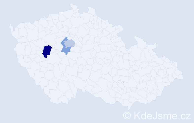 Příjmení: 'Ferschmannová', počet výskytů 6 v celé ČR
