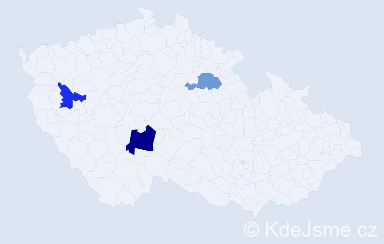 Příjmení: 'Gadžinovský', počet výskytů 4 v celé ČR
