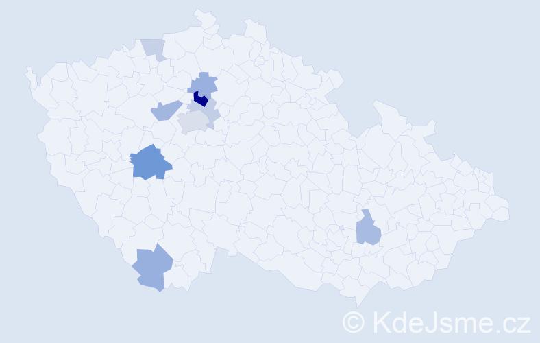 Příjmení: 'Jurčovský', počet výskytů 18 v celé ČR