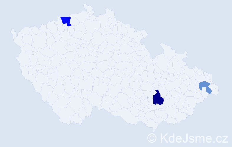 Příjmení: 'Bruzda', počet výskytů 9 v celé ČR