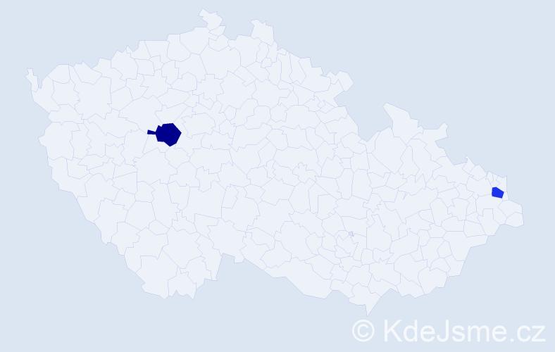 Příjmení: 'Komašková', počet výskytů 6 v celé ČR