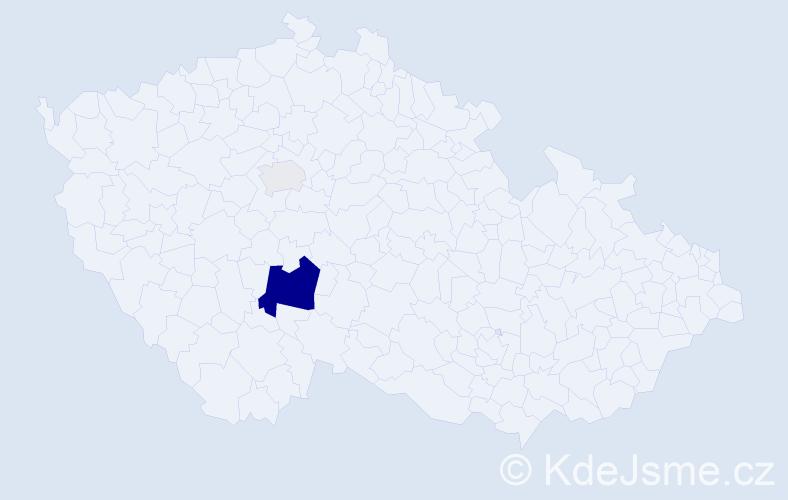 Příjmení: 'Brandštýl', počet výskytů 7 v celé ČR