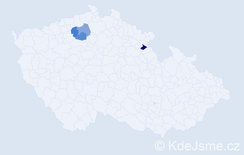 Příjmení: 'Globan', počet výskytů 4 v celé ČR