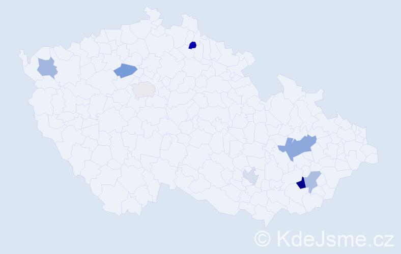 Příjmení: 'Curtis', počet výskytů 11 v celé ČR