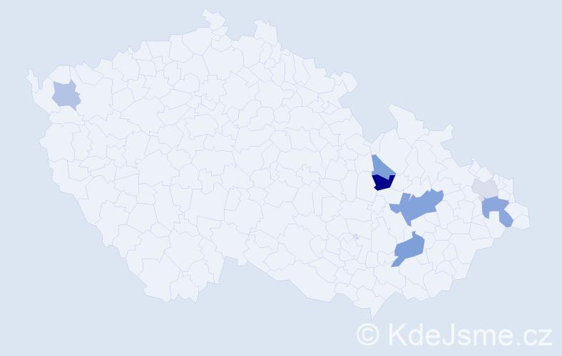 Příjmení: 'Harastej', počet výskytů 12 v celé ČR