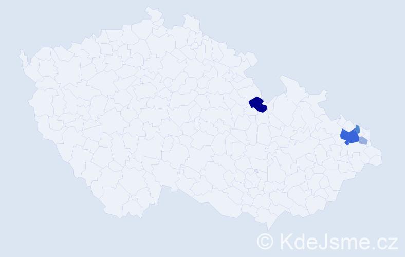 Příjmení: 'Ďurán', počet výskytů 12 v celé ČR