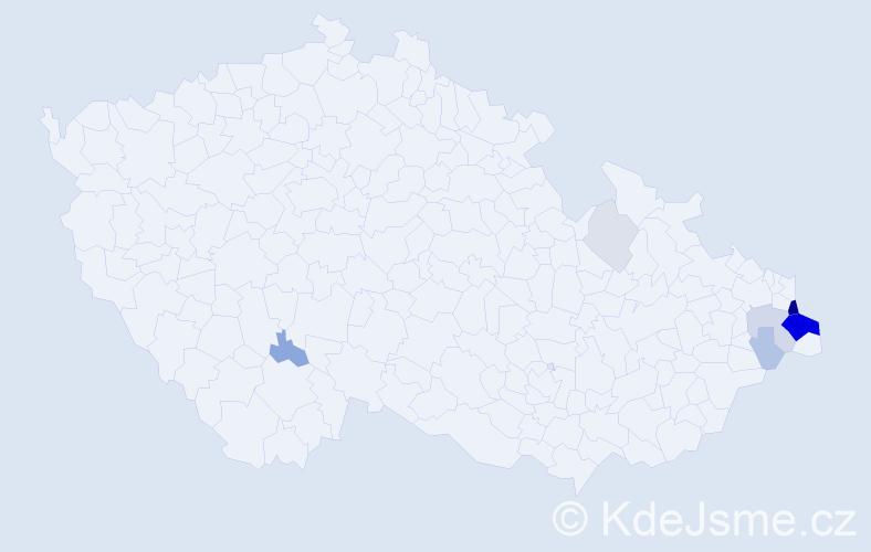 Příjmení: 'Krawiec', počet výskytů 30 v celé ČR