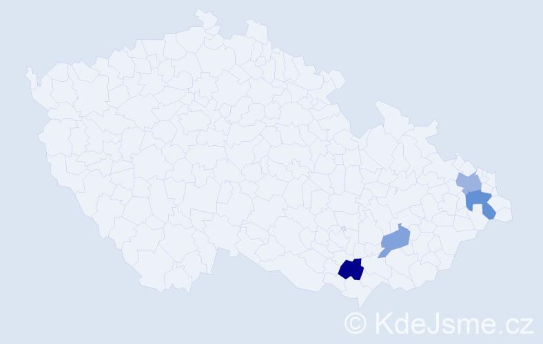 Příjmení: 'Fabig', počet výskytů 7 v celé ČR