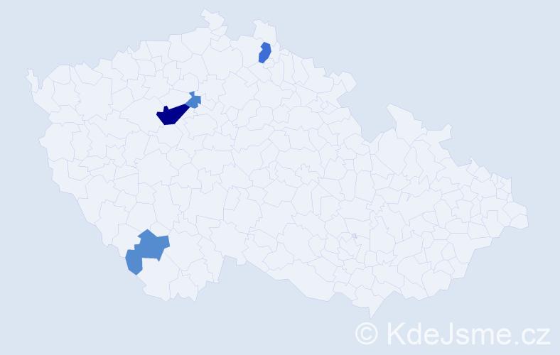 Příjmení: 'Keszi', počet výskytů 10 v celé ČR
