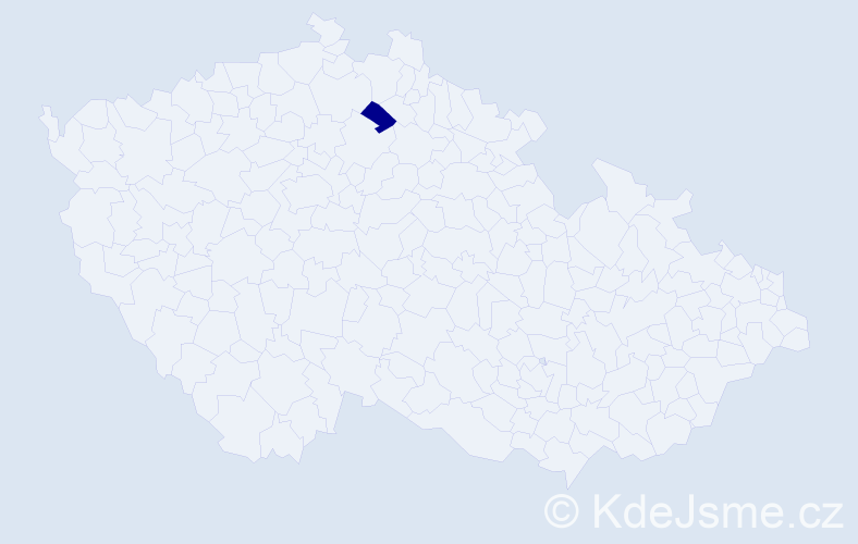 Příjmení: 'Agg', počet výskytů 1 v celé ČR