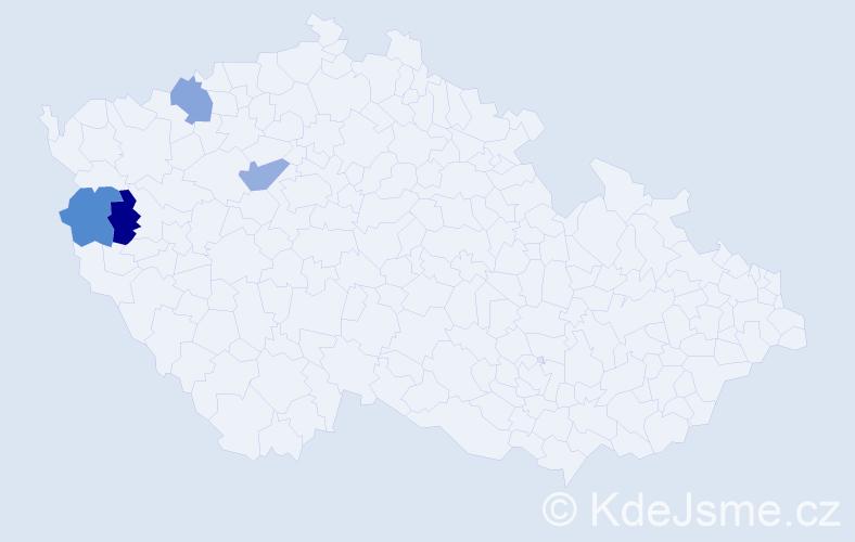 Příjmení: 'Ferdinandyová', počet výskytů 4 v celé ČR