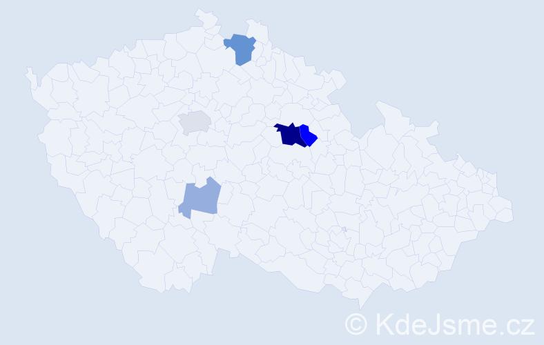 Příjmení: 'Lempachová', počet výskytů 14 v celé ČR