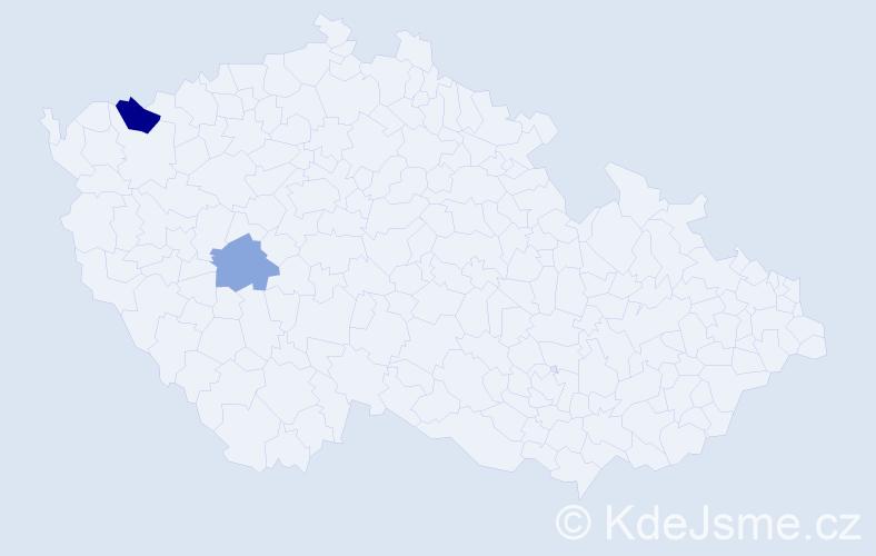 Příjmení: 'Kamenčuková', počet výskytů 3 v celé ČR