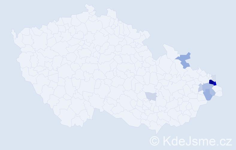 Příjmení: 'Chroboczek', počet výskytů 35 v celé ČR