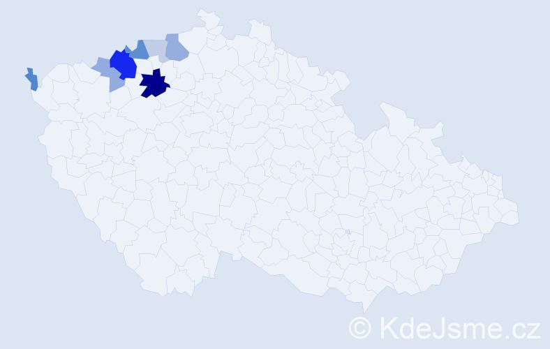 Příjmení: 'Imr', počet výskytů 18 v celé ČR