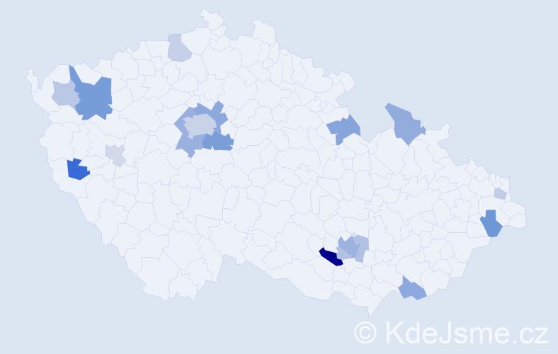 Příjmení: 'Ecksteinová', počet výskytů 34 v celé ČR