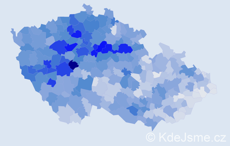 Příjmení: 'Černý', počet výskytů 17795 v celé ČR