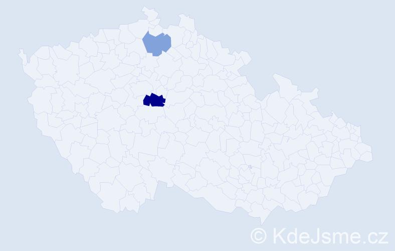 Příjmení: 'Kvaszová', počet výskytů 4 v celé ČR