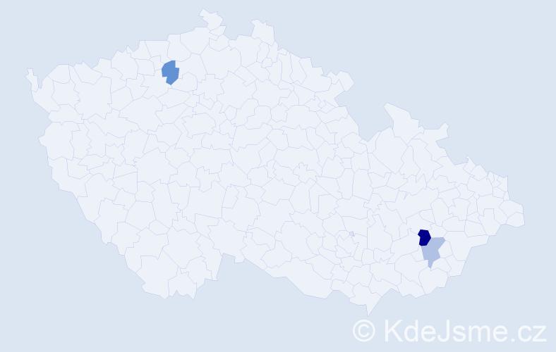 Příjmení: 'Csefalvayová', počet výskytů 4 v celé ČR