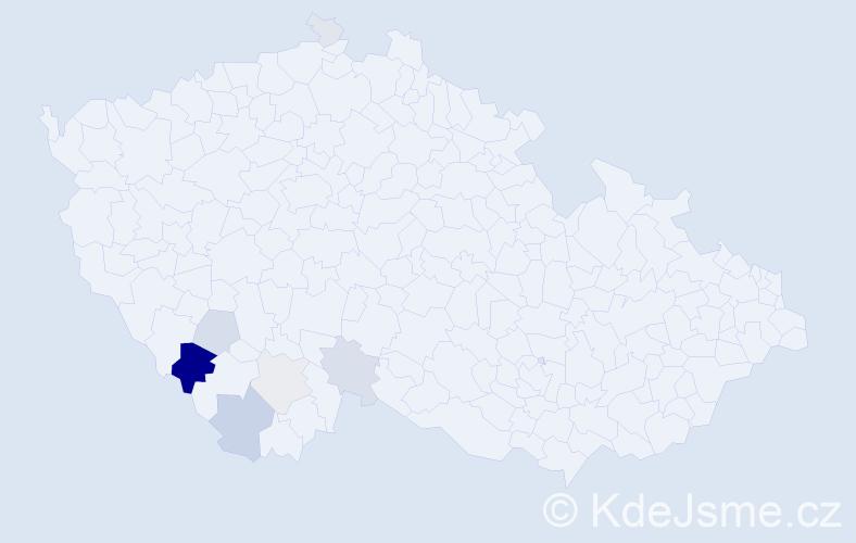 Příjmení: 'Chrstošová', počet výskytů 24 v celé ČR