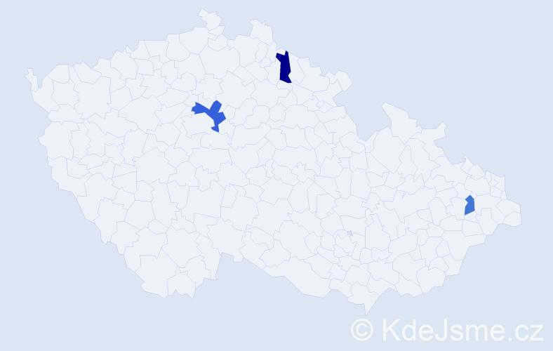 Příjmení: 'Jezdínský', počet výskytů 4 v celé ČR